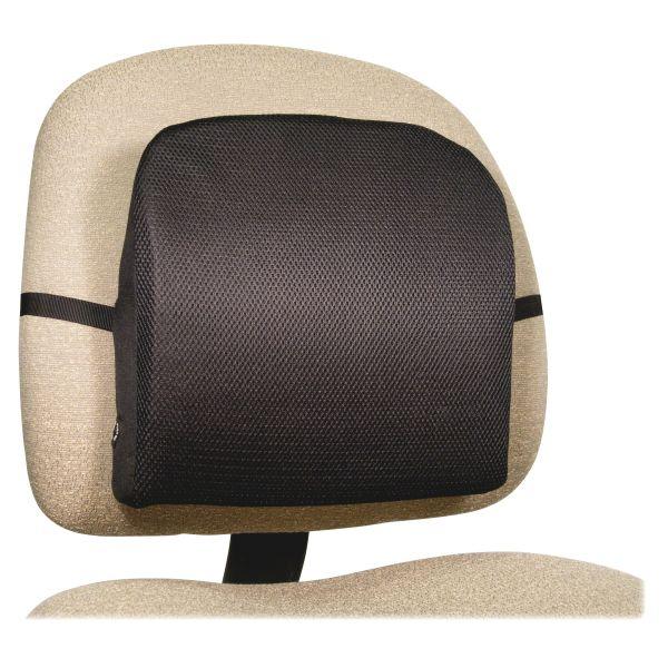 Advantus Memory Foam Massage Lumbar Cushion, 12-3/4w x 3-3/4d x 12h, Black