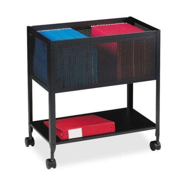 Lorell Mesh Rolling File Cart