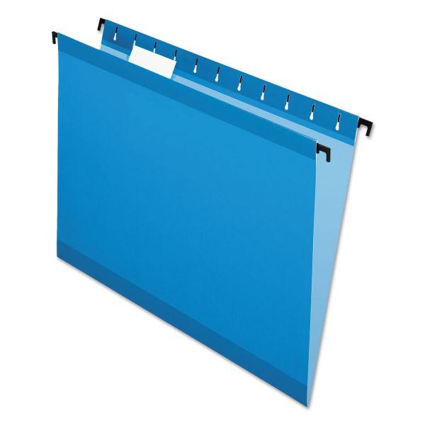 Pendaflex Poly Laminate Hanging Folders, Letter, 1/5 Tab, Blue, 20/Box