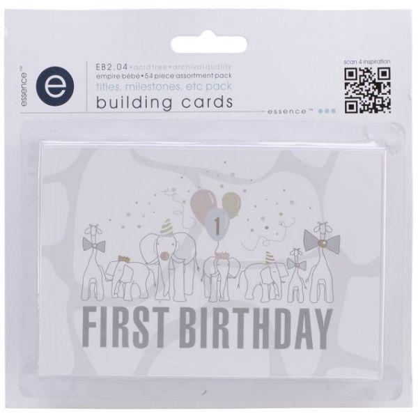 Empire Bebe Building Cards 54/Pkg