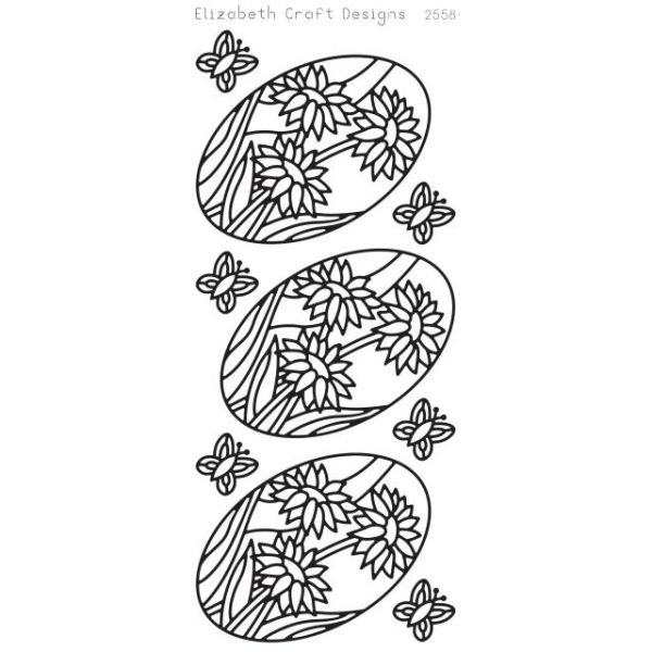 Daisies In Ovals Peel-Off Stickers