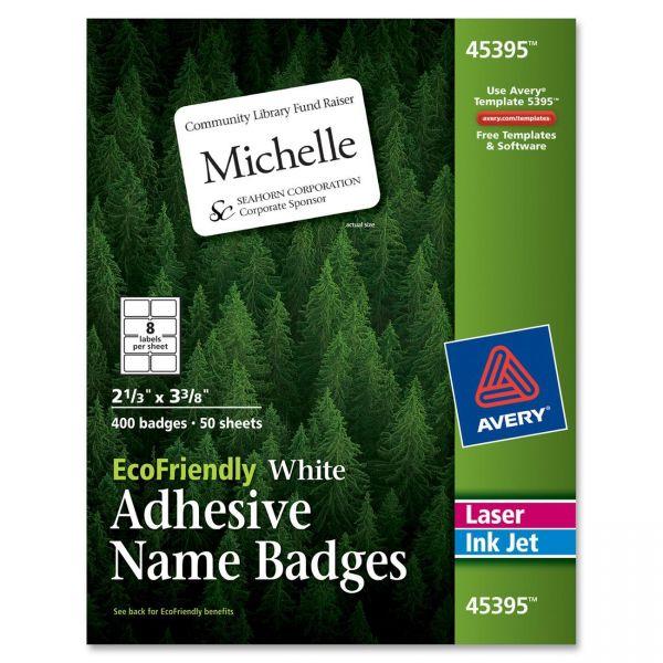 Avery EcoFriendly Adhesive Name Badge Labels