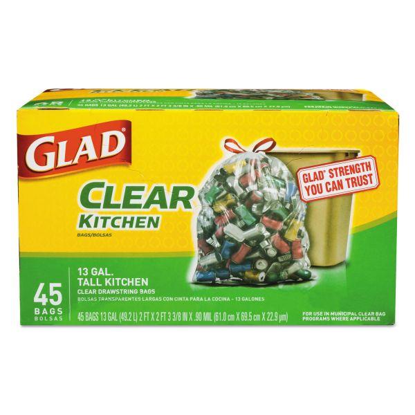 Glad Recycling Tall Kitchen 13 Gallon Trash Bags