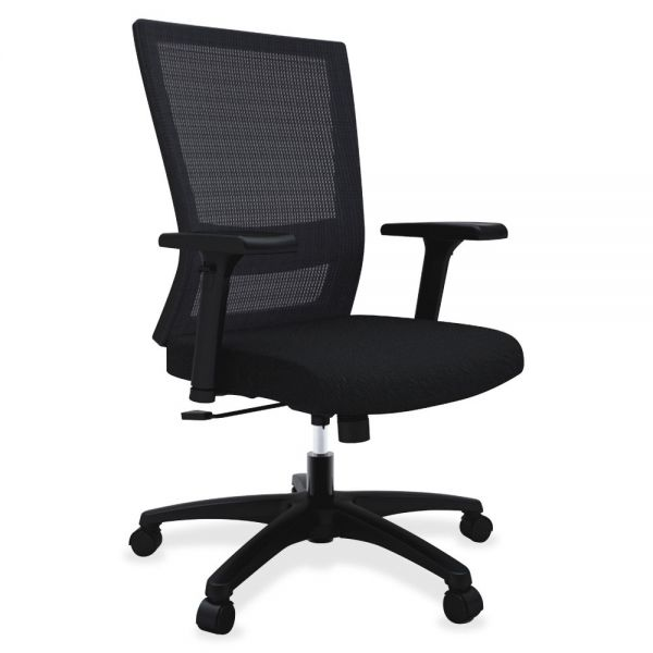 Lorell Mesh Mid-back Swivel Office Chair