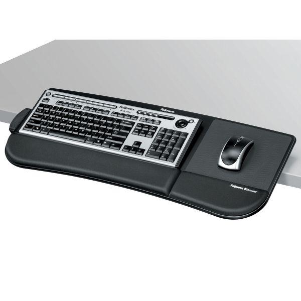 Fellowes Tilt 'n Slide Keyboard Manager, 19-1/2w x 11-7/8d, Black