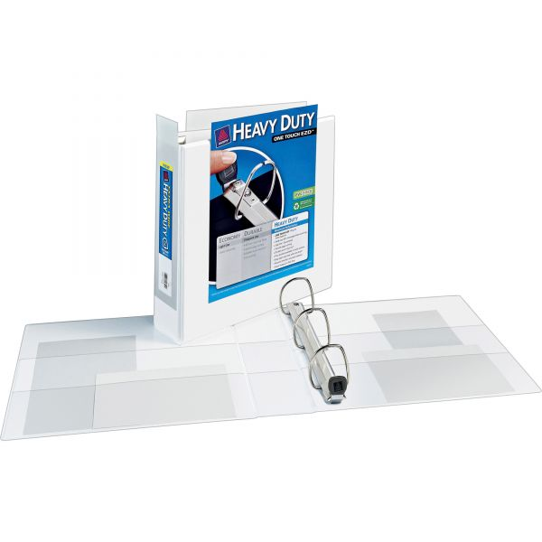 """Avery Heavy-Duty 3-Ring View Binder w/Locking 1-Touch EZD Rings, 2"""" Capacity, White"""