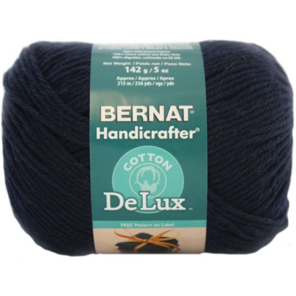Bernat Handicrafter DeLux Cotton Yarn - Navy