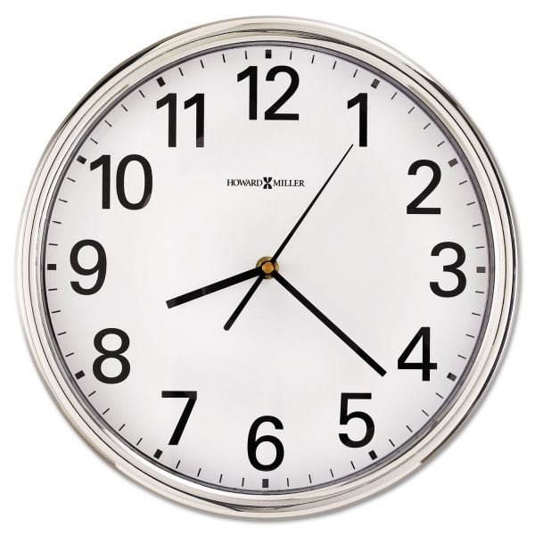 Howard Miller Hamilton Silver Wall Clock