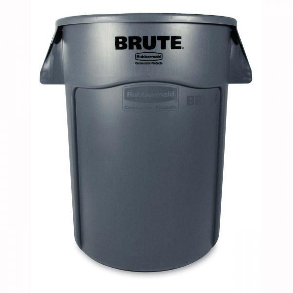 Rubbermaid Brute 44 Gallon Utility Trash Can With Venting Channels