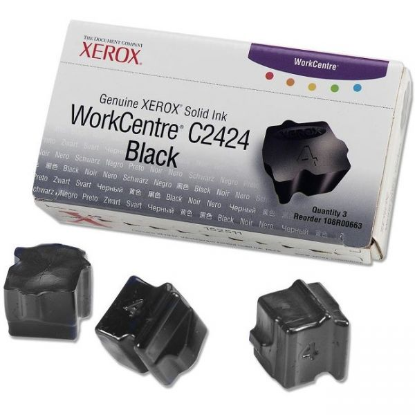 Xerox C2424 Black Solid Ink Sticks