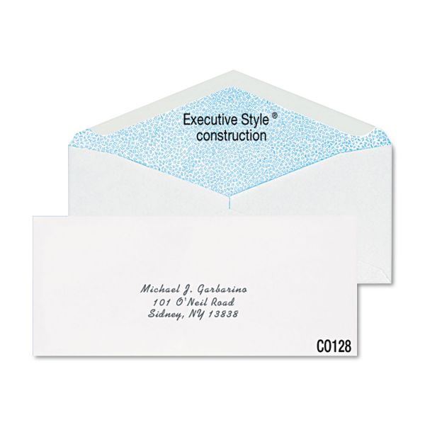 Columbian Gummed Seal Security Tint Business Envelope,#10, White,500/Box