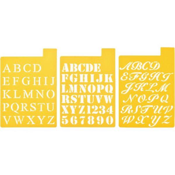 "Stencil Mania Stencils 7""X10"" 3/Pkg"