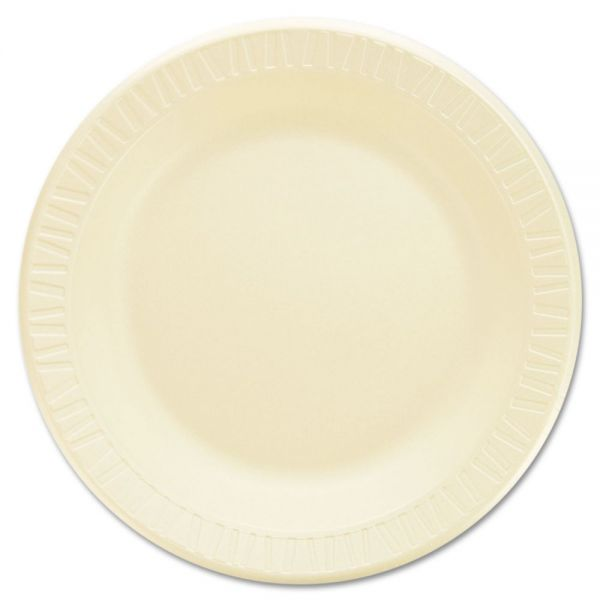 "Dart Laminated Foam Dinnerware, Plates, 10 1/4"", Honey, 125/Pk, 4 Pks/Ctn"