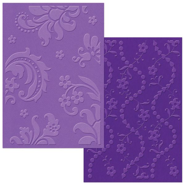 Sizzix Textured Impressions A6 Embossing Folders 2/Pkg