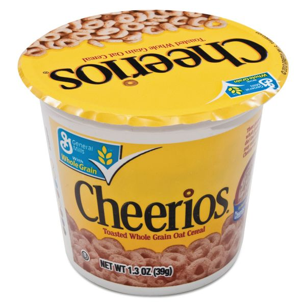 General Mills Cheerios Breakfast Cereal, Single-Serve 1.3oz Cup, 6/Pack