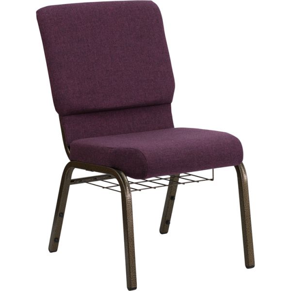 Flash Furniture Purple Fabric Big & Tall Church Chair