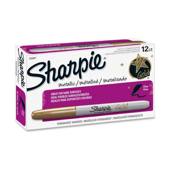 Sharpie Metallic Fine Point Gold Permanent Markers