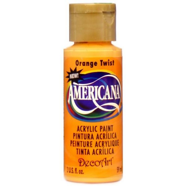 Deco Art Americana Orange Twist Acrylic Paint