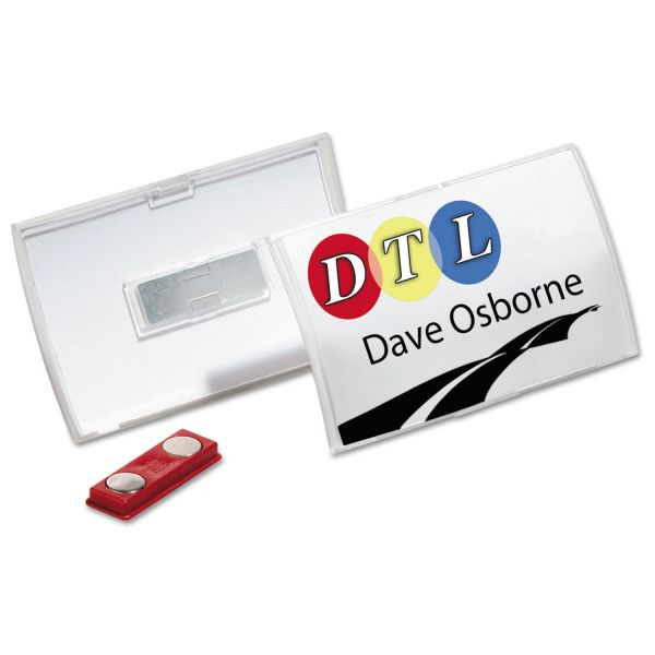 Durable Click-Fold Convex Double Magnet Name Badge Holders