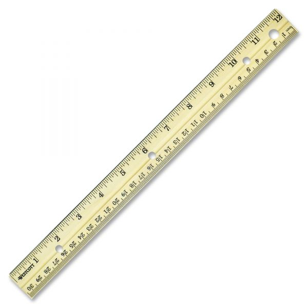Westcott Metal Edge Wood Ruler