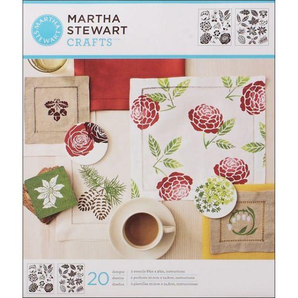 Martha Stewart Medium Stencils 2/Pkg
