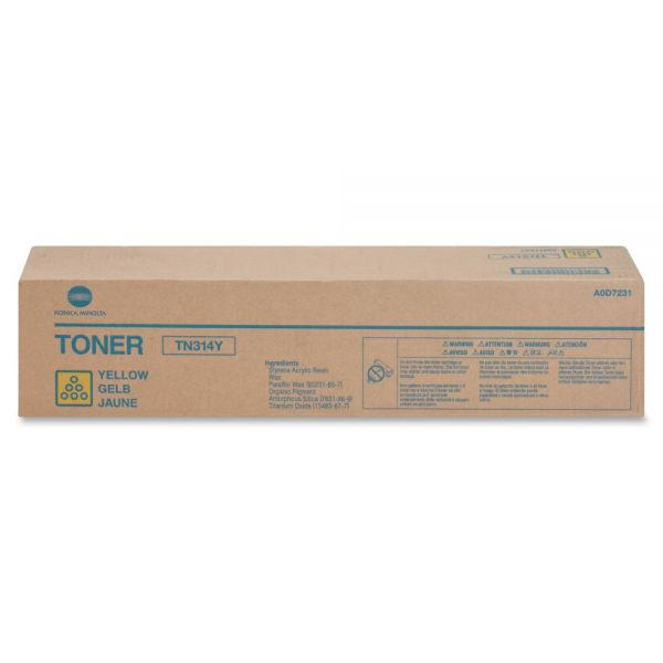 Konica Minolta TN314Y Original Toner Cartridge