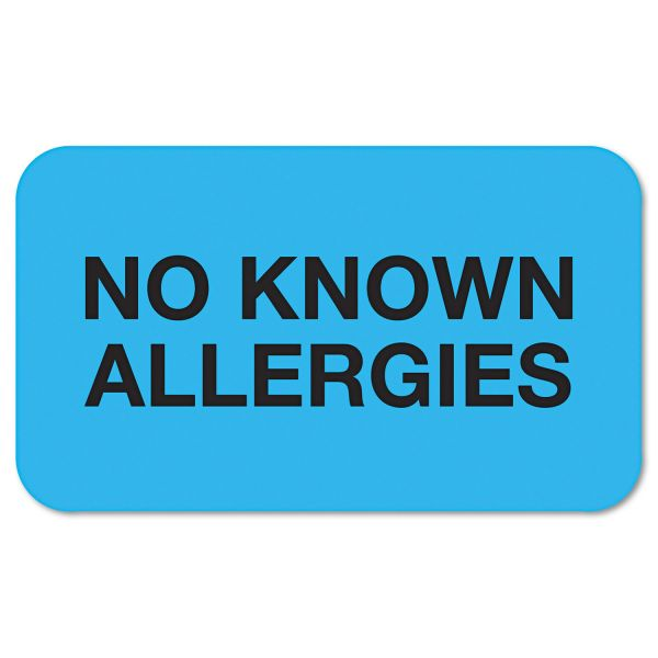 Tabbies No Known Allergies Label