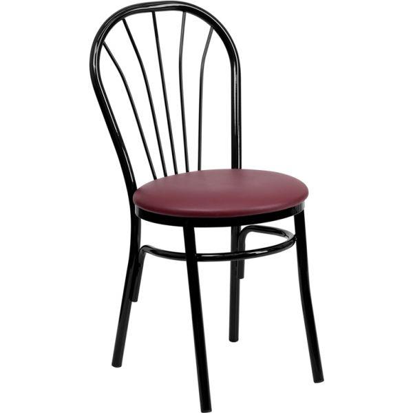 Flash Furniture Fan Back Metal Chair