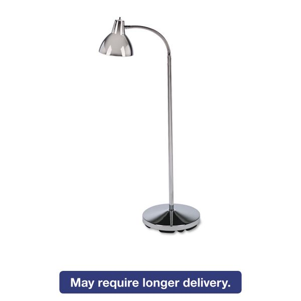 "Medline Classic Incandescent Exam Lamp, Three Prong, 74""h, Gooseneck, Stainless Steel"