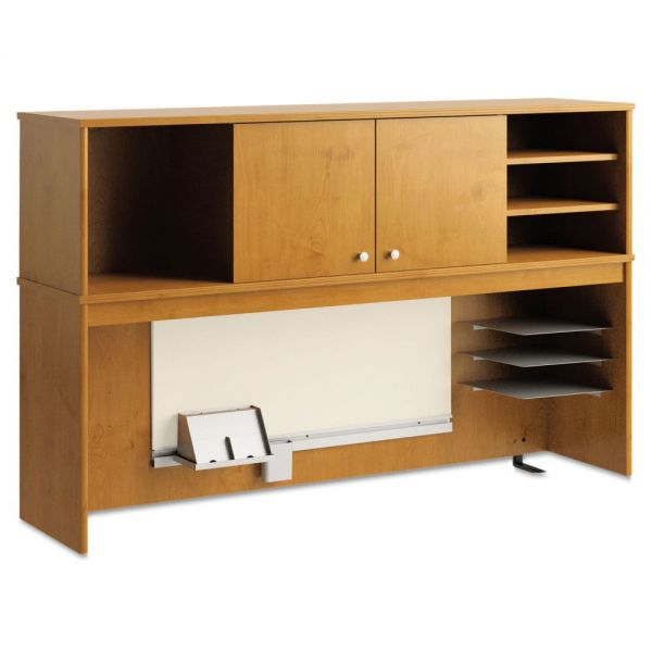 Office Connect by bbf Envoy Series Hutch, 58w x 14-1/4d x 36-1/4h, Natural Cherry by Bush Furniture