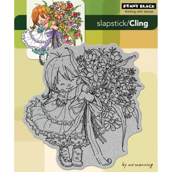 "Penny Black Cling Rubber Stamp 5""X6"" Sheet"