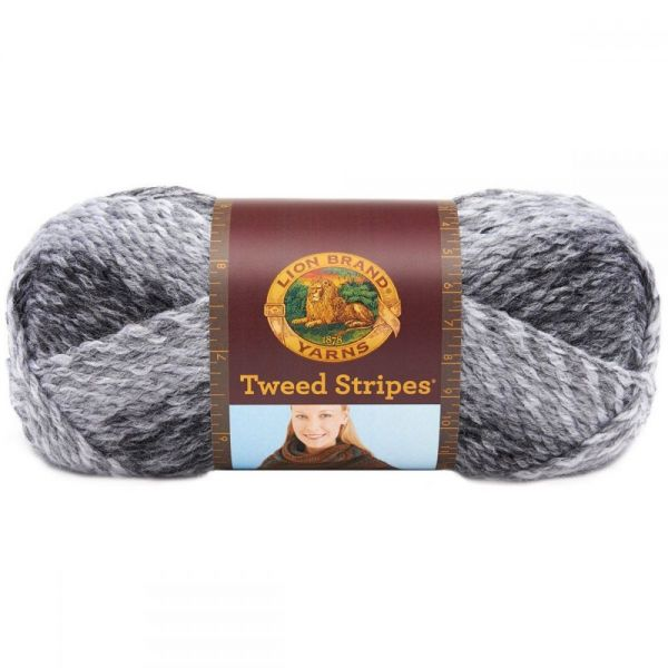 Lion Brand Tweed Stripes Yarn - Marble