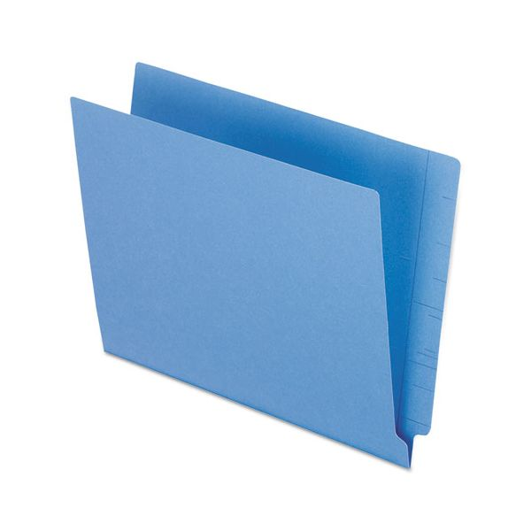 Pendaflex Reinforced End Tab Folders, Two Ply Tab, Letter, Blue,  100/Box