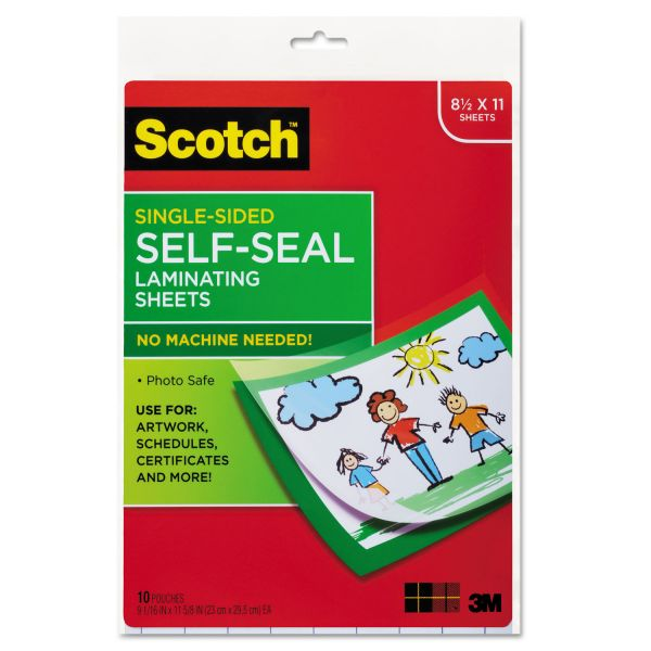 Scotch Self-Seal Letter Size Laminating Sheets