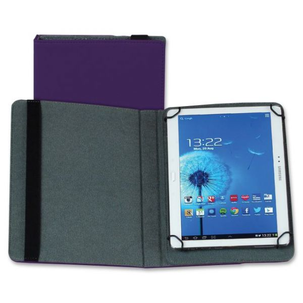 "Samsill Carrying Case (Folio) for 10"" Tablet - Purple"