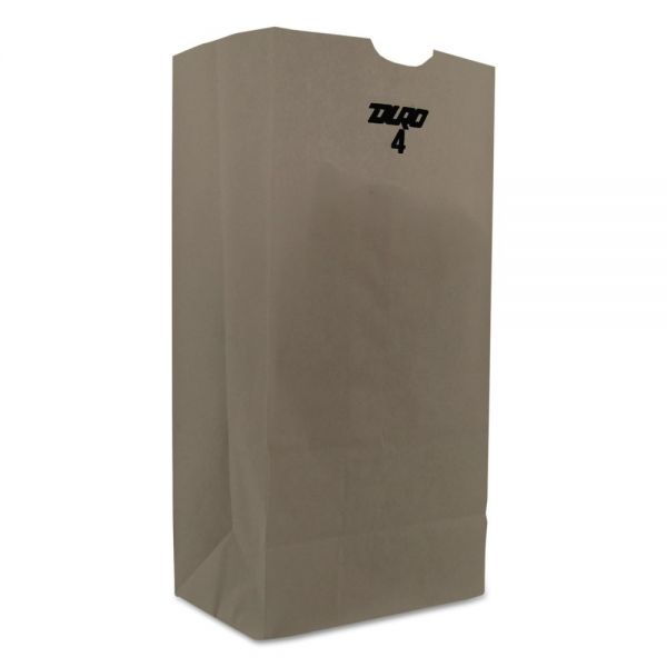 General 4# White Paper Grocery Bags
