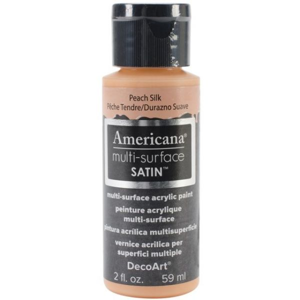 Deco Art Americana Multi-Surface Satin Peach Silk Acrylic Paint