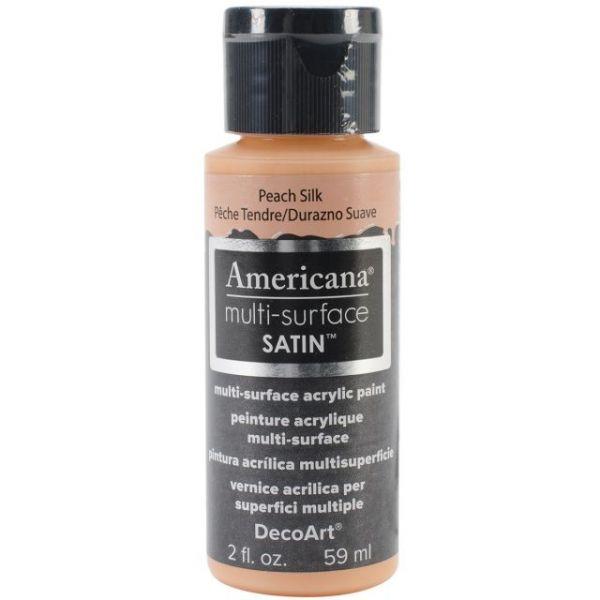 Deco Art Peach Silk Americana Multi-Surface Satin Acrylic Paint