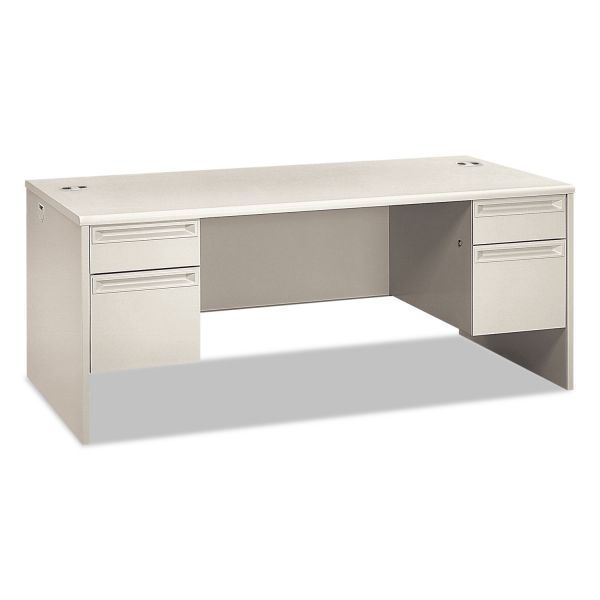 "HON 38000 Series Double Pedestal Desk | 2 Box / 2 File Drawers | 72""W"