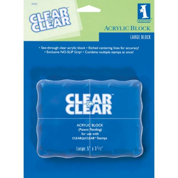 Inkadinkado Clear On Clear Acrylic Block