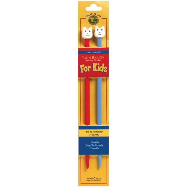 Kids Single Point Knitting Needles