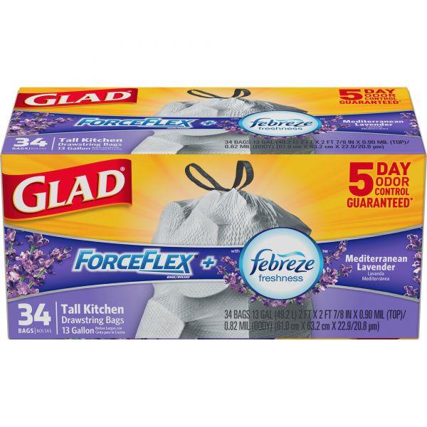 Glad ForceFlex Odor Shield 13 Gallon Trash Bags