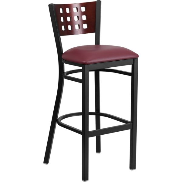 Flash Furniture HERCULES Series Decorative Cutout Back Barstool