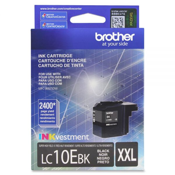 Brother LC10EBK Super High Yield Black Ink Cartridge