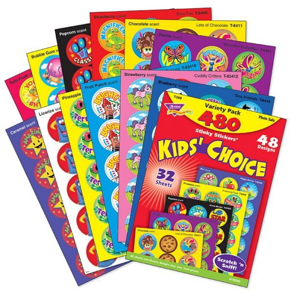 Trend Kids' Choice Stinky Stickers Variety Pack