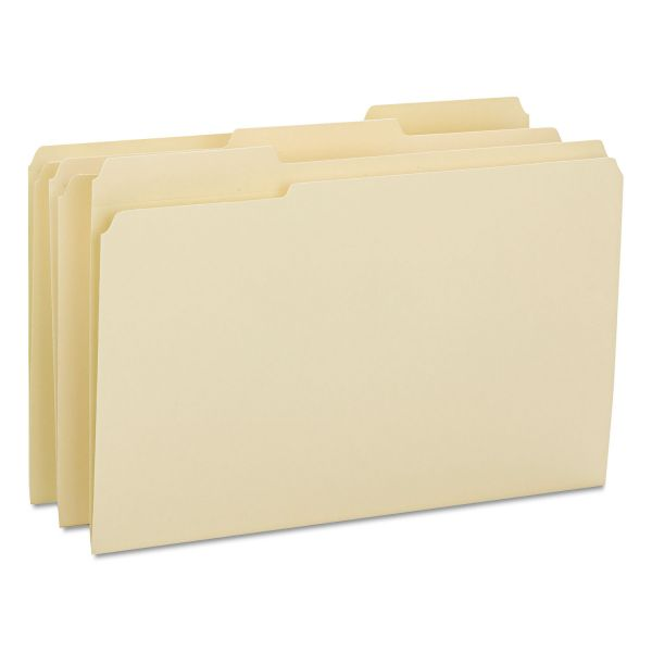Smead File Folders, 1/3 Cut Reinforced Tab, Legal, Manila, 100/Box