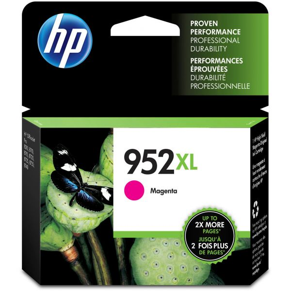 HP 952XL High Yield Magenta Ink Cartridge (L0S64AN)
