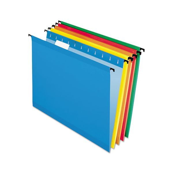 Pendaflex Poly Laminate Hanging Folders, 1/5 Tab, Legal, Assorted, 20/Box
