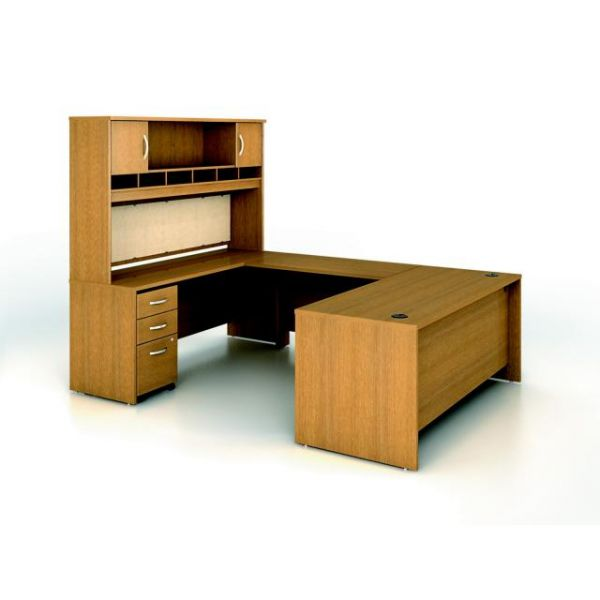 bbf Series C Executive Configuration - Warm Oak finish by Bush Furniture