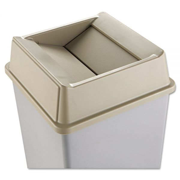 Rubbermaid Untouchable Square Swing Top Trash Can Lid